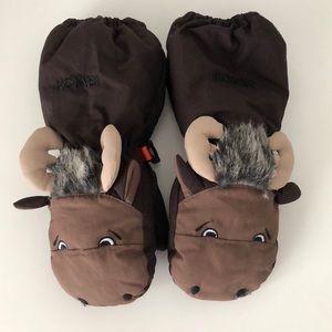 Kombi Animal Family Mittens Moose - Small (2-3 yo)